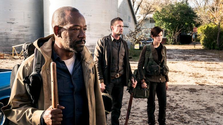 Lennie James, Garrett Dillahunt, and Maggie Grace on Fear the Walking Dead