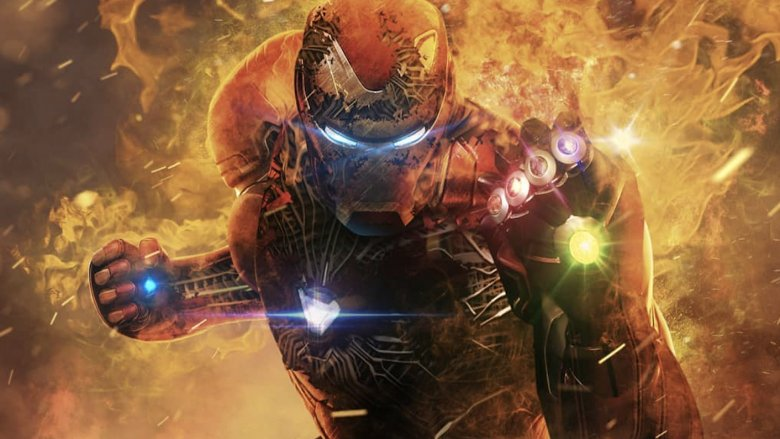 Avengers Endgame Iron Man Infinity Gauntlet fan art