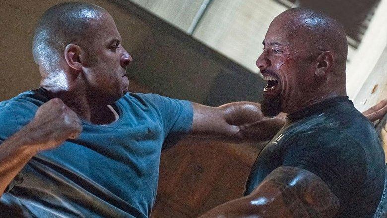 Vin Diesel and Dwayne Johnson in Fast Five