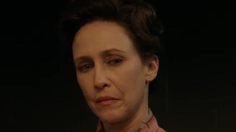 Lorraine Warren looking stern