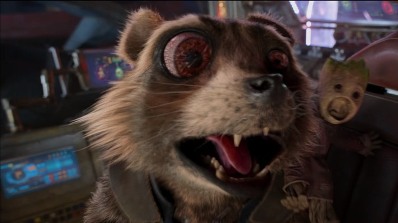 Rocket and Baby Groot in Guardians of the Galaxy Vol 2