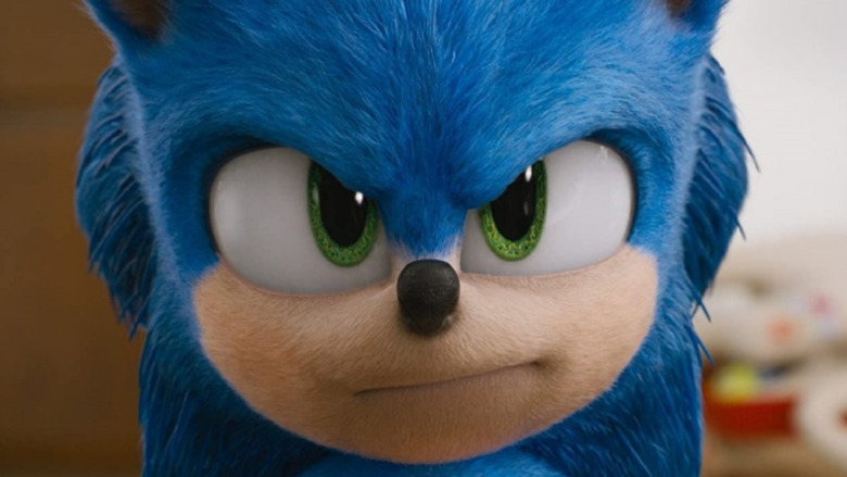Sonic the Hedgehog looking serious