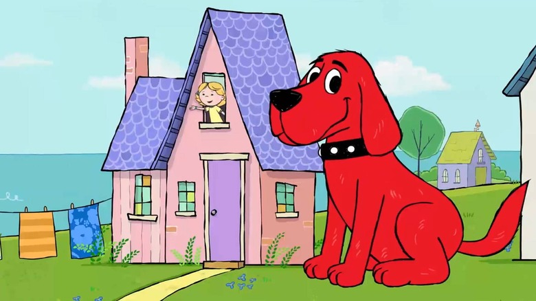 The cartoon version of Clifford the Big Red Dog