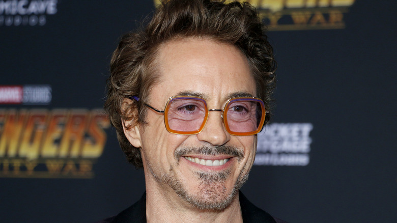 Robert Downey Jr. wears flashy sunglasses