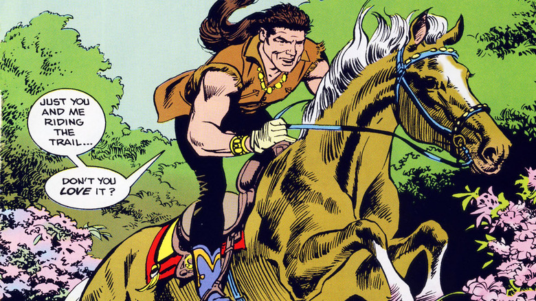 Billy Ray Cyrus on a horse
