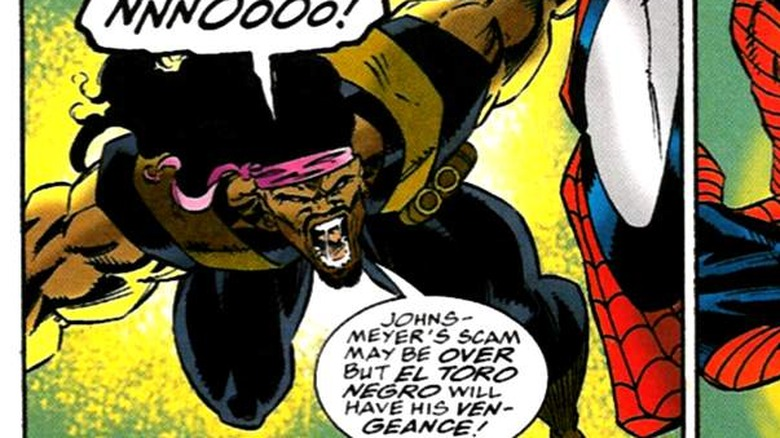 El Toro Negro attacks Spider-Man