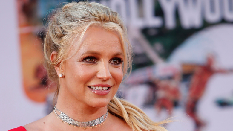 Britney Spears smiles at event
