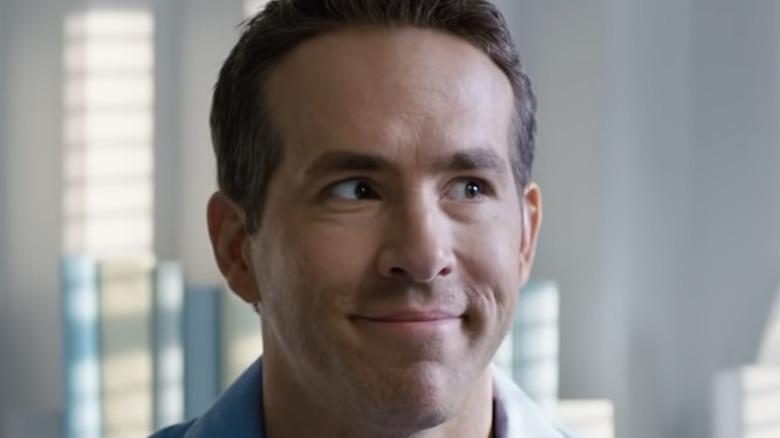 Ryan Reynolds smiling in Free Guy trailer