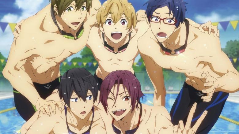 Iwatobi boys posing