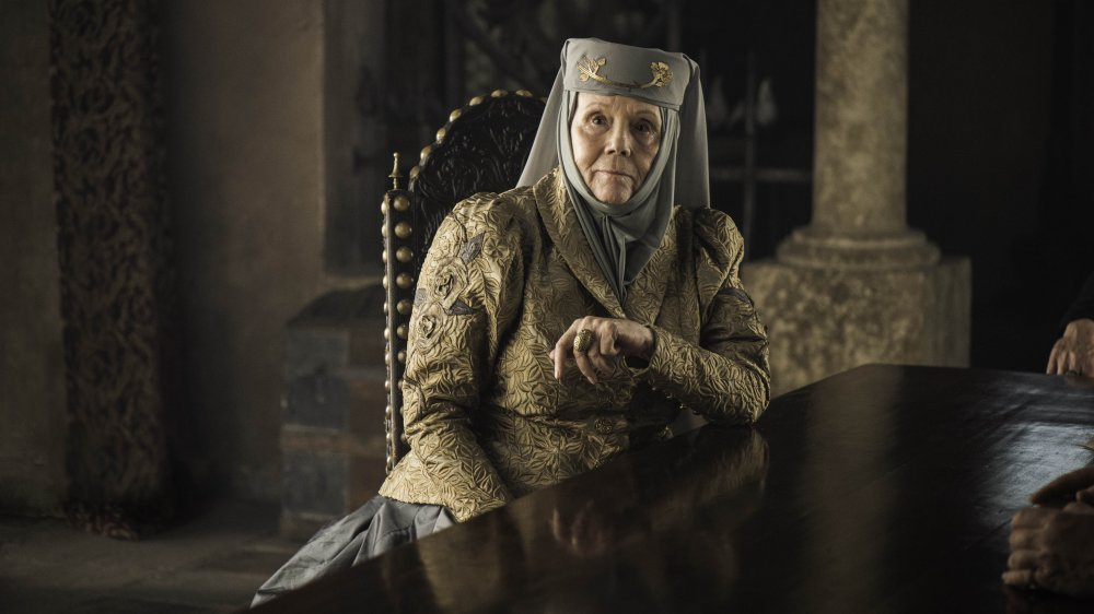 Diana Rigg as Lady Olenna Tyrell on Game of Thrones