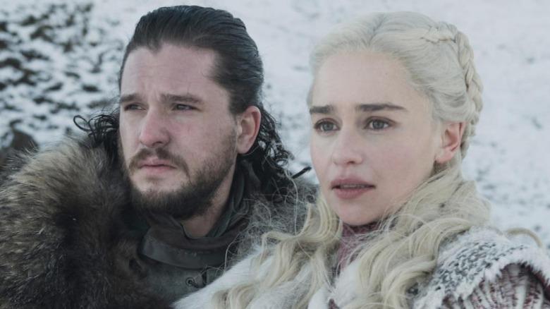 Kit Harington Jon Snow Emilia Clarke Daenerys Targaryen Game of Thrones