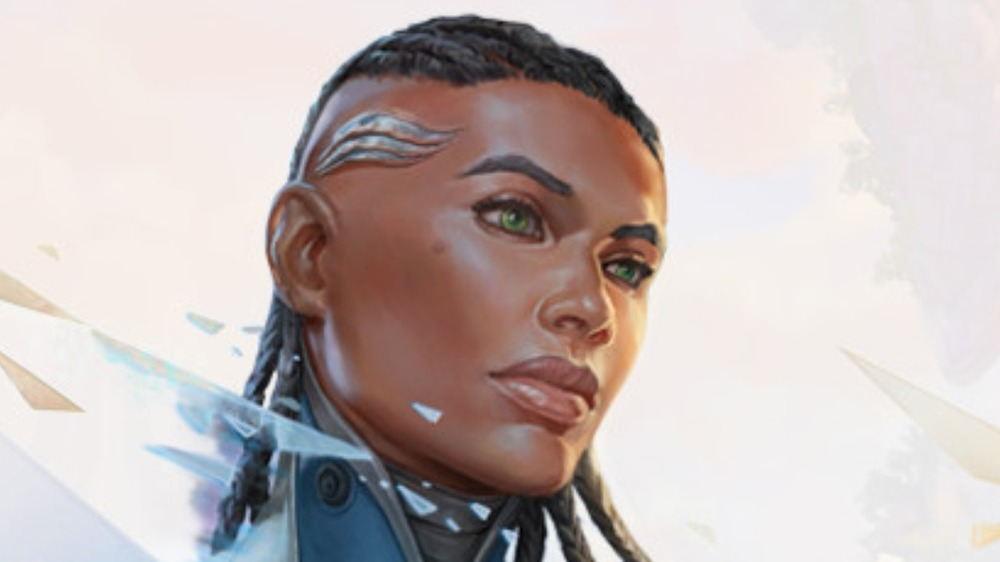 Woman with braided hair