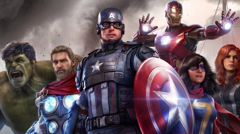 Hulk, Thor, Captain America, Iron Man, Black Widow, Ms. Marvel