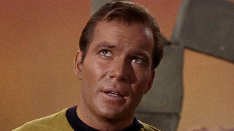 Captain Kirk looks up