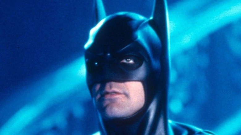 George Clooney Batman looking up