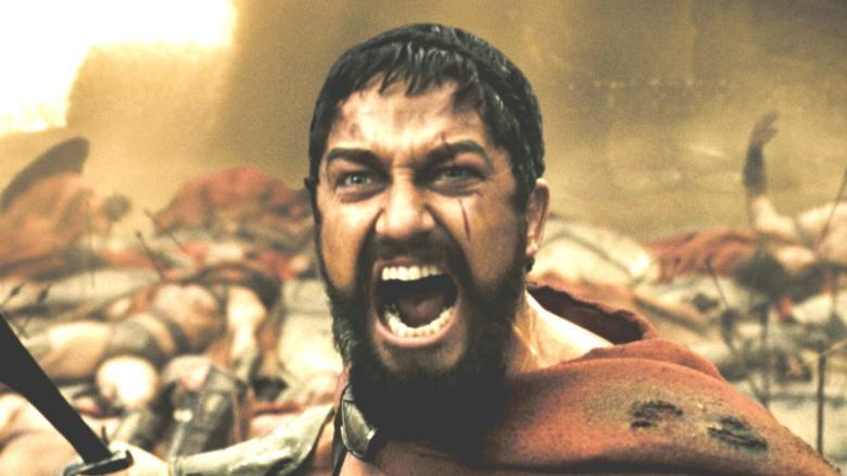 Leonidas screaming in 300