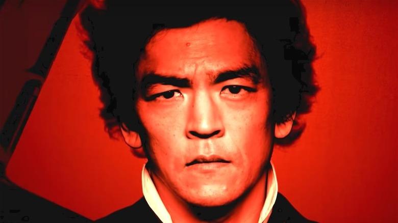 John Cho in red light