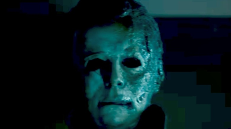 Michael Myers burnt mask looming