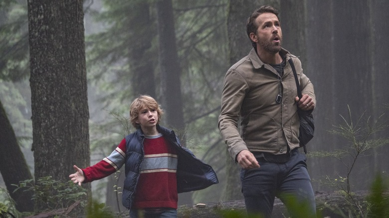 Walker Scobell and Ryan Reynolds in The Adam Project
