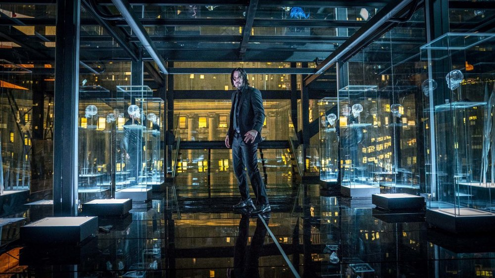 Keanu Reeves as John Wick in the Continental Hotel