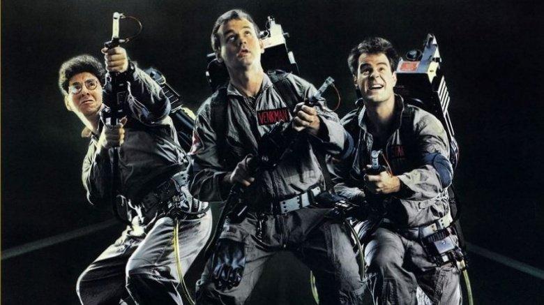 Harold Ramis, Bill Murray, and Dan Aykroyd in Ghostbusters (1984)