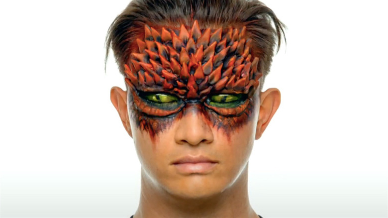 Model with spike makeup