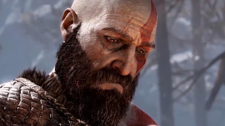 Kratos close up from God of War