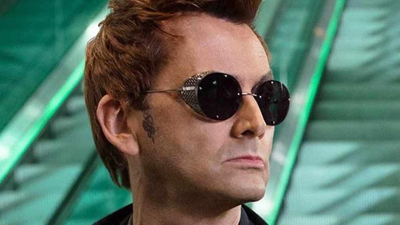 Crowley wearing sunglasses