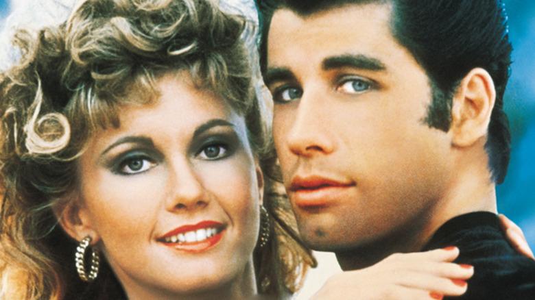 Grease poster Olivia Newton-John and John Travolta