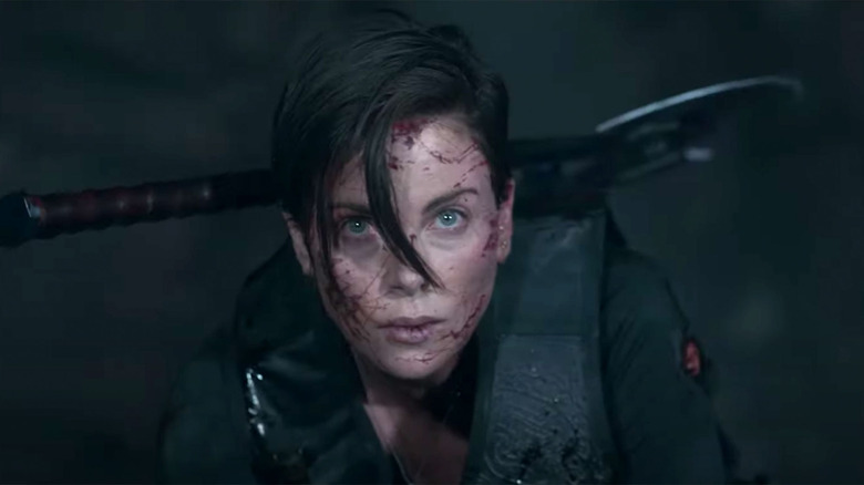 Charlize Theron as Andy in The Old Guard
