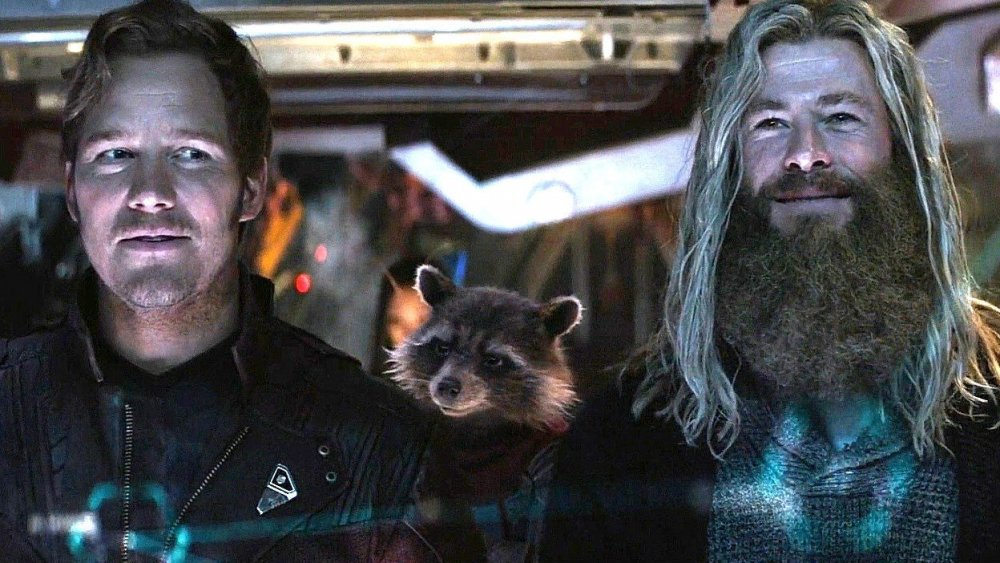 Chris Pratt and Chris Hemsworth as Peter Quill and Thor in Avengers: Endgame