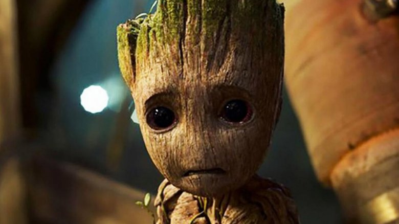 Baby Groot crying