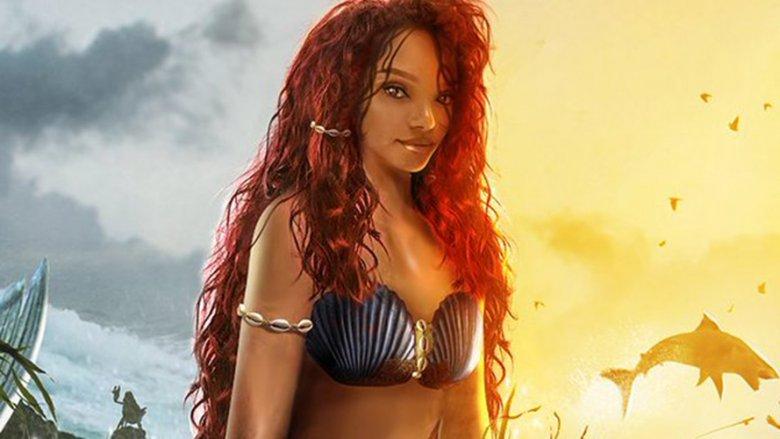bosslogic Little Mermaid Halle Bailey poster