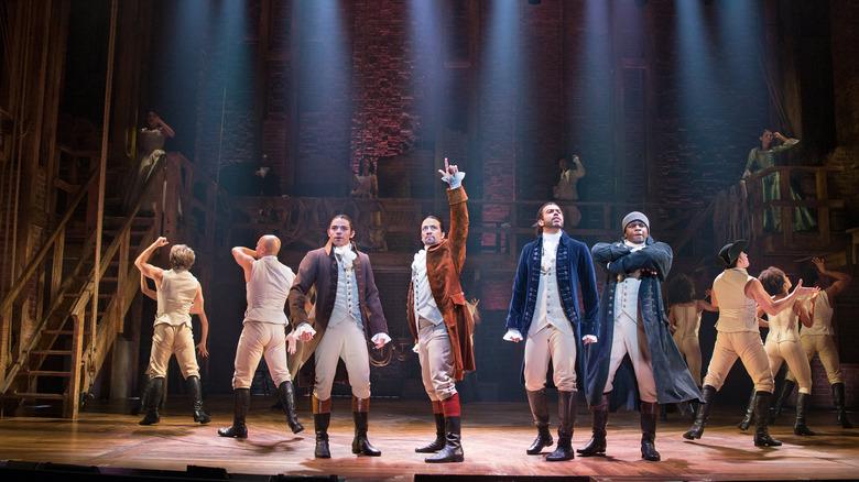 Lin-Manuel Miranda and the cast of Hamilton