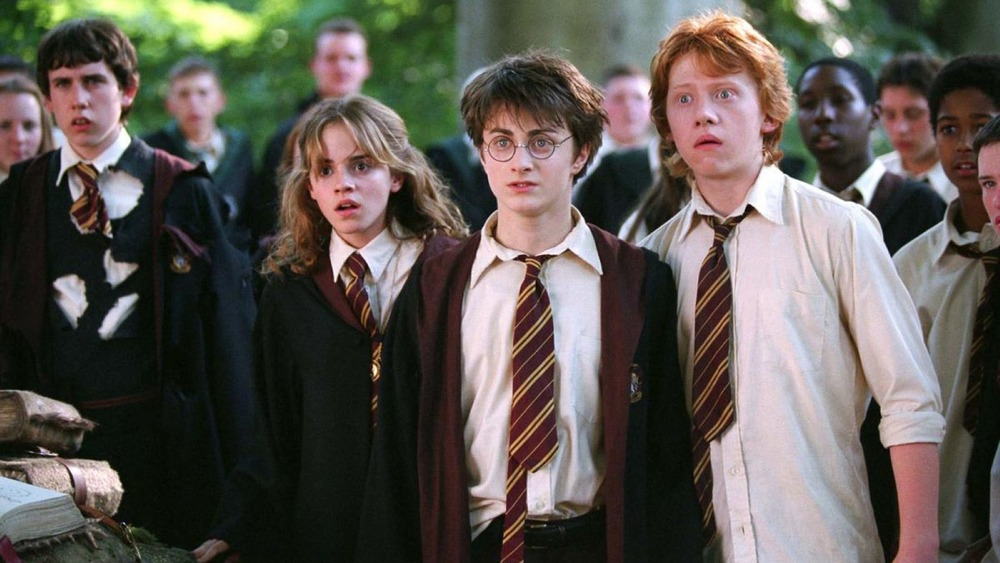 Neville Hermione Harry Ron surprised
