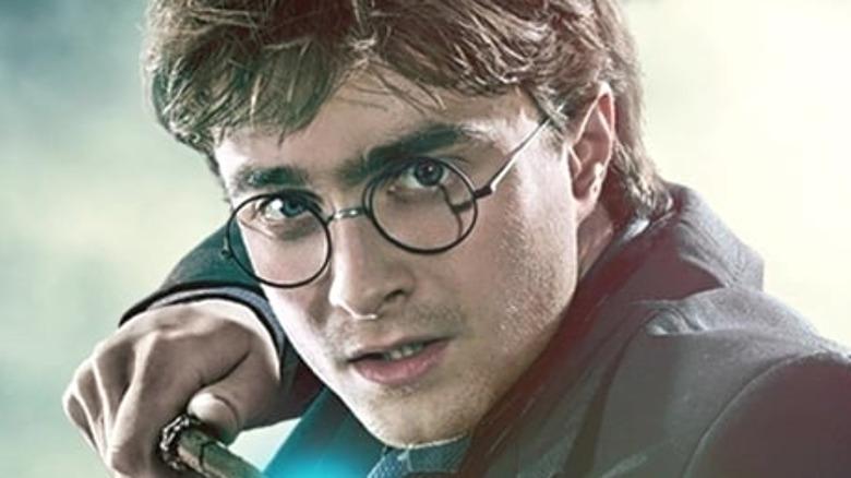 Harry Potter looks intense