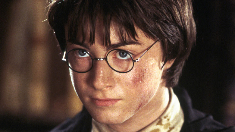 Daniel Radcliffe Harry Potter scraped cheek