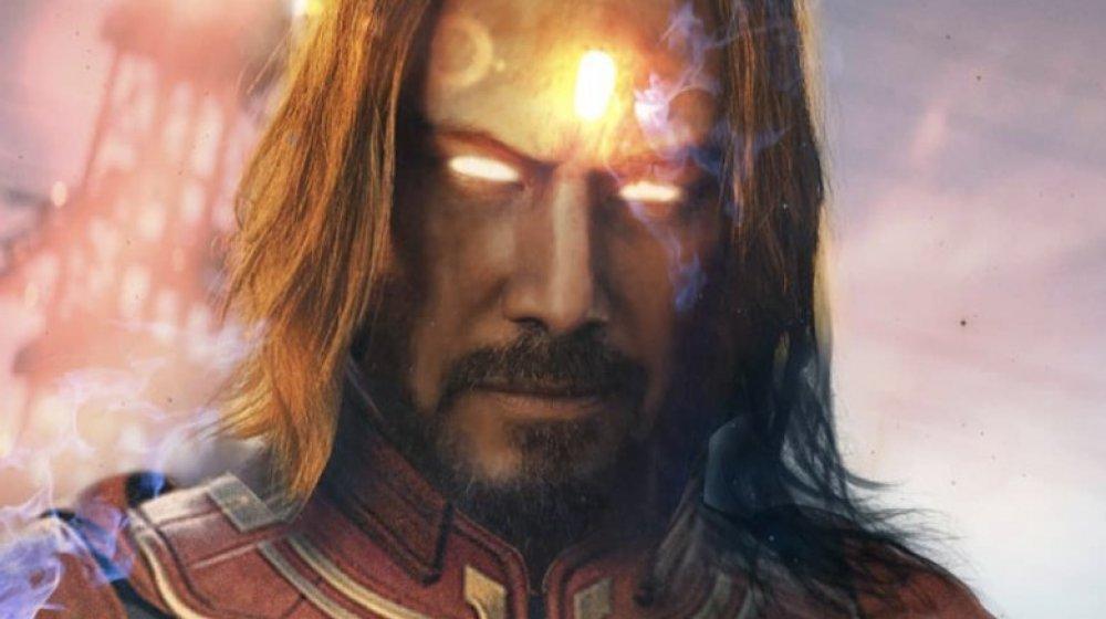 fanart by Daanys depicting Keanu Reeves as Adam Warlock