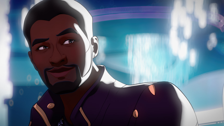 T'Challa as Star-Lord smiling