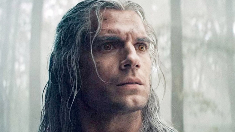 Geralt the Witcher looking worried