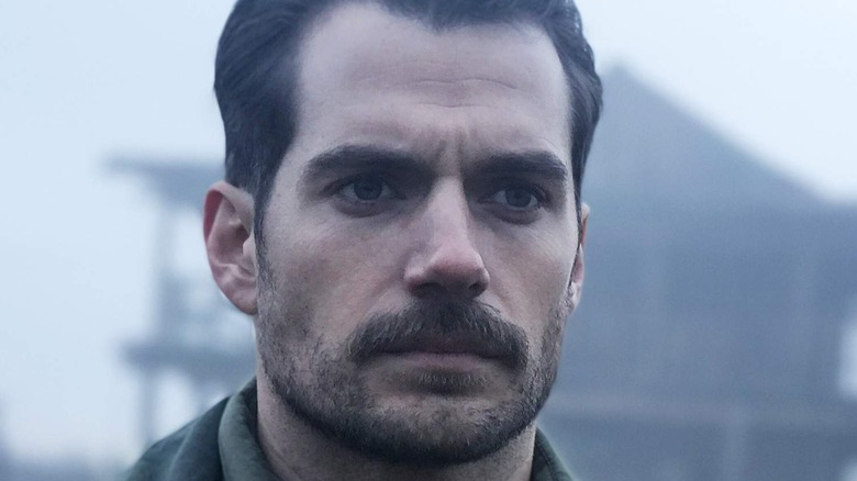 Henry Cavill with mustache and beard