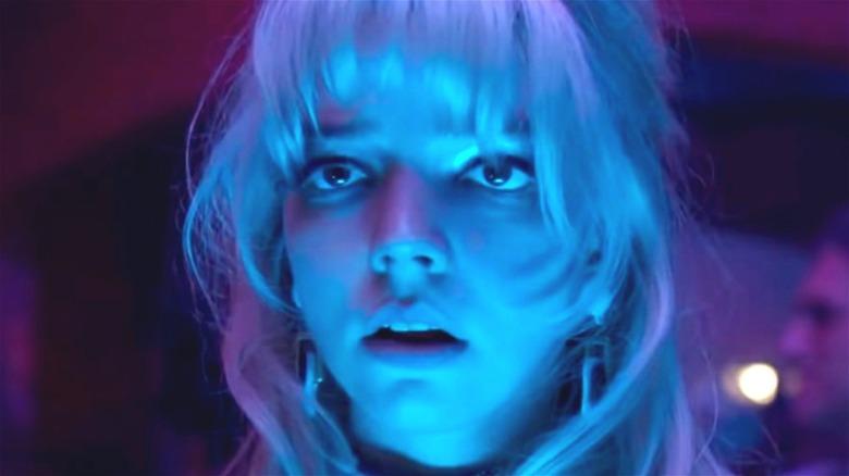 Anya Taylor-Joy in blue light