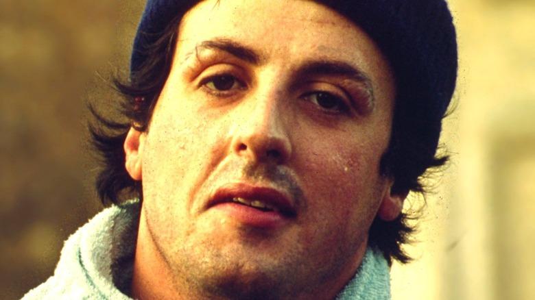 Rocky Balboa wearing a beanie