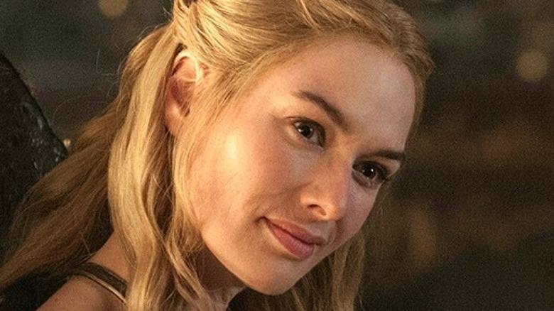 Cersei Lannister sitting down