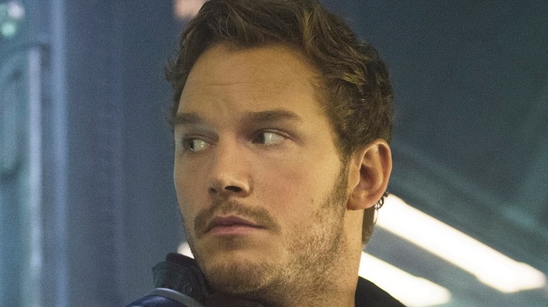 Star-Lord looking over his shoulder