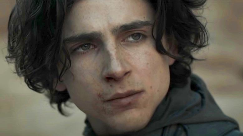 Timothée Chalamet Dune serious face