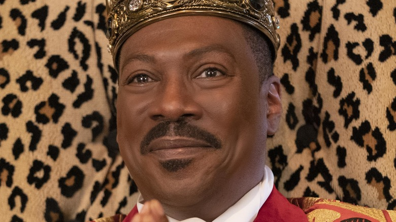 King Akeem on throne in Coming 2 America