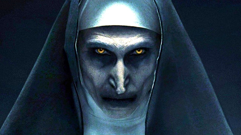 The Conjuring Nun being creepy