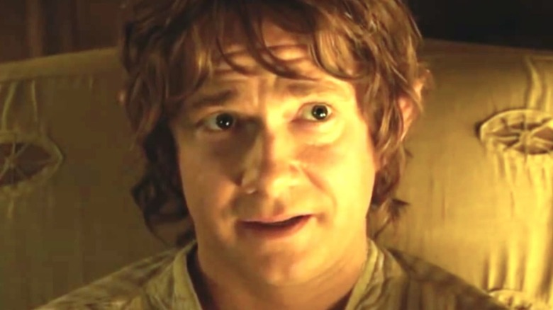Bilbo Baggins about to journey