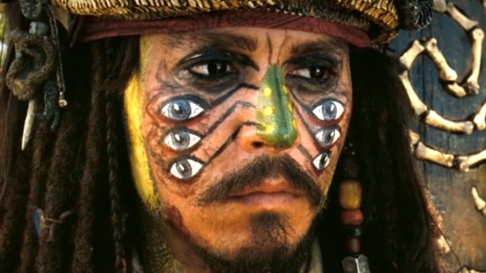 Captain Jack Sparrow in face paint